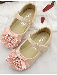 Girls' Flats Comfort Light Up Shoes Faux Leather Spring Summer Fall Outdoor Comfort Light Up Shoes White Blushing Pink