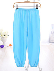 Girl's Casual/Daily Solid Pants,Cotton Summer / Spring / Fall Blue / Red / White / Yellow