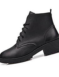 Women's Boots Fall Winter PU Casual Low Heel Others Black