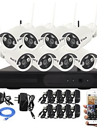 YanSe® 1.3MP PNP Wireless NVR Kit IR Night Vision Security IP Camera WIFI CCTV System(8pcs/HDMI/960P/P2P)