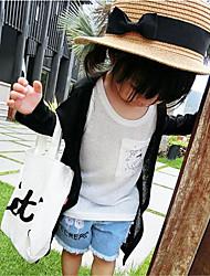 Casual/Dagelijks-Patchwork-Katoen-Zomer-Girl's-Kostuum & Blazer-Zwart / Wit