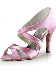 Women's Shoes Silk Stiletto Heel Heels / Peep Toe Heels Wedding / Party & Evening / Dress Black / Blue / Yellow / Pink