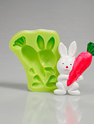 Easter Bunny Carrot Silicone Mould Fondant Cake Decorating Tools for Chocolate Cupcake Candy Making Clay Accessories