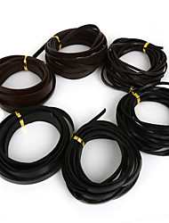 Beadia 3Mts 6x2mm Flat Cow Leather Cord Fit Bracelets