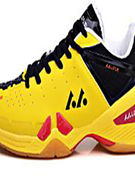 Unisex Sneakers PU Athletic Low Heel Lace-up Yellow Green Red Peach Badminton Tennis