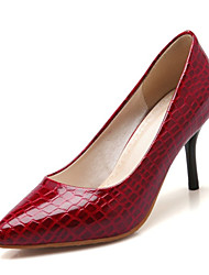 Women's Spring / Summer / Fall Heels Leatherette Wedding / Dress / Casual / Party & Evening Stiletto Heel Black / Red / White
