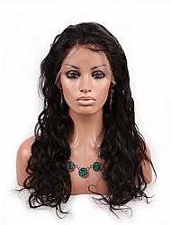 evawigs instock peruca dianteira cor 1b glueless rendas 8-26 polegadas brasileira virgem do cabelo peruca natureza ondulatória peruca para