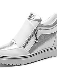 Da donna-Sneakers-Casual / Sportivo-Creepers-Plateau-Sintetico-Nero / Bianco