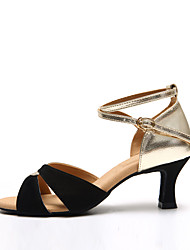 Maßfertigung-Niedriger Heel-Leder-Lateintanz-Damen