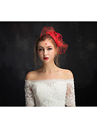 Women's Lace / Tulle / Flax / Net Headpiece-Special Occasion Fascinators 1 Piece