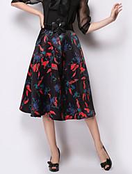 Damen Röcke - Anspruchsvoll Knielang Andere Mikro-elastisch