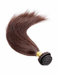 1Pcs/Lot Brazilian Virgin Hair Silky Straight 100% Human Hair Weft Dark Brown Unprocessed Hair Extensions