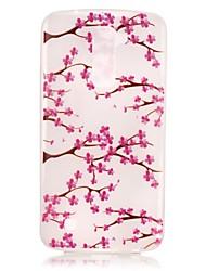 Pour Coque LG Phosphorescent Motif Coque Coque Arrière Coque Fleur Flexible PUT pour LG LG K10 LG K8 LG K7
