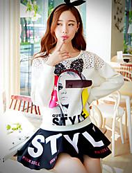 Pink Doll® Women's Above Knee Letter Print Skirt-X14CSK124