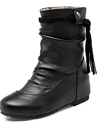 Women's Shoes Fall / Winter Fashion Boots / Round Toe Boots Office & Career / Dress / Casual Low Heel Tassel