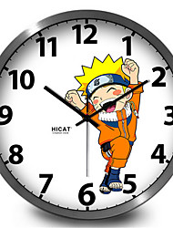 Cute Cartoon Naruto Uzumaki Home Furnishing Mute Decorative Wall Clock