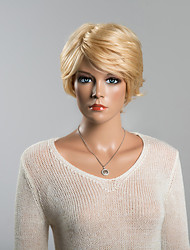 Unique Short Layered Straight Human Hair Wig