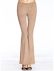 Heart Soul® Women's Mid Rise Flare Champagne Casual Pants-11AA34707