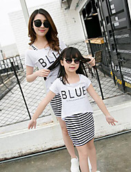 Sleeveless Cotton Family Clothing Sets,Summer Dress