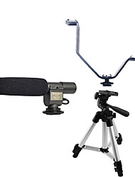 Fotografia 1 set com 108 microfone + luz do flash v-tipo tripé suporte de liga de alumínio +