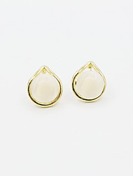 Opal Alloy Fashion Geometric Gold Jewelry Wedding Party Daily Casual Sports 1 pair