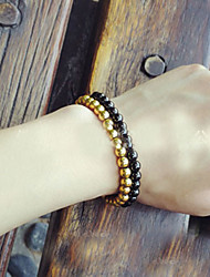 Fashionable Titanium Steel 17cm Round Strand Bracelets
