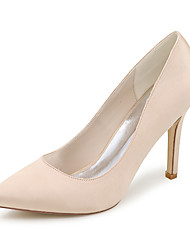 Women's Spring Summer Fall Winter Satin Wedding Party & Evening Stiletto Heel Black Blue Pink Purple Red Ivory White Silver Champagne