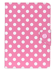 Aokdis Universal Polka Dot Leather Stand Case Cover For Android Tablet