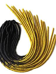Jaune La Havane dreadlocks Extensions de cheveux 20 inch Kanekalon 20 roots Brin 100g gramme Braids Hair
