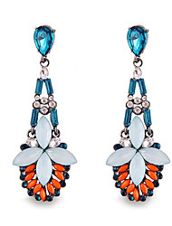 Hyperbole Fashion Personality Luxuriant Gem Multicolored Bohemia Drop Earrings