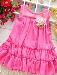 Kids Consignment an outgoing 2016 summer new Korean female baby sleeveless chiffon dress baby veil