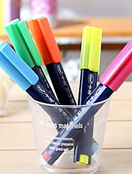 bonito doce cor de geléia de cor sólida marca-texto (cores aleatórias)