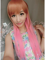 Fashion Sexy Kawaill Brown Mix Pink Beautiful Party Wigs on Sale