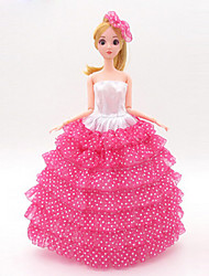 Universal (Excluding Baby) 11 Clothes Wedding Dress Full Bag Big Skirt Trailing Wedding Dress Design 30 Cm Doll Skirt