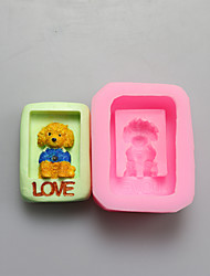 Dog Shape Chocolate Silicone Molds,Cake Molds,Soap Molds,Decoration Tools Bakeware