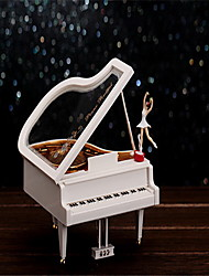 Paris Girls Piano Music Box Shape