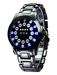 Luxury Men's Black Stainless Steel Date Digital LED Watch Bracelet Sport Watches Fashion Watch
