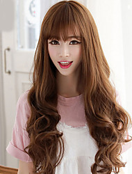 Long Wavy Hair Beautiful Synthetic Wigs