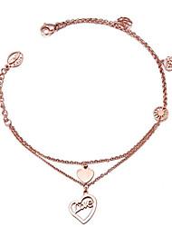 Titanium plated 18K Rose Gold Fashion Bracelet