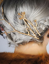 Gold Leaf Branch Shape Hair Clip Barrette Pins for Lady Casul Hair Jewelry