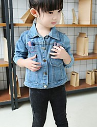 Casual/Dagelijks-Print-Katoen-Lente / Herfst-Girl's-Blouse / Jeans-Blauw