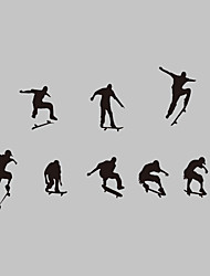 AWOO® New Design The Skateboard Boy Wall Stickers Home Decor Vinyl Stickers For Kids Room Decoration