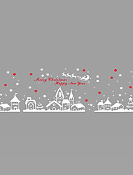Wall Stickers Wall Decals Style Christmas Town PVC Wall Stickers