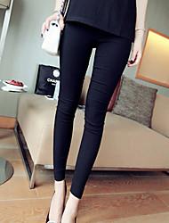 Pantaloni Da donna Skinny Semplice Cotone Media elasticità