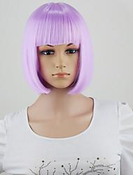 mode de halloween droite style perruque de cheveux synthétiques perruques courtes pas cher complet bob cosplay / parti couleur pourpre