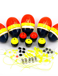Vertical Buoy Sea Fishing Floats Assorted Size for Most Type of Angling with Attachment Rubbers Fishing Lures