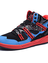 Men's Fashion Sneakers Comfort Tulle Outdoor / Athletic / Casual Flat Heel Lace-up Black / Blue / Black and Red