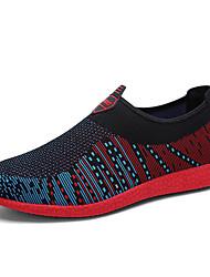 Masculino-Mocassins e Slip-Ons-Conforto-Rasteiro-Azul / Verde / Laranja / Preto e Vermelho-Tule-Casual