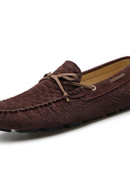 Men's Boat Shoes Spring / Summer / Fall Moccasin Suede Office & Career / Party & Evening / Casual Blue / Gray / Coffee