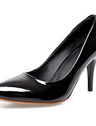 Damen-High Heels-Büro / Kleid / Lässig-Kunstleder-Stöckelabsatz-Absätze / Pumps / Spitzschuh-Schwarz / Grün / Rot / Mandelfarben